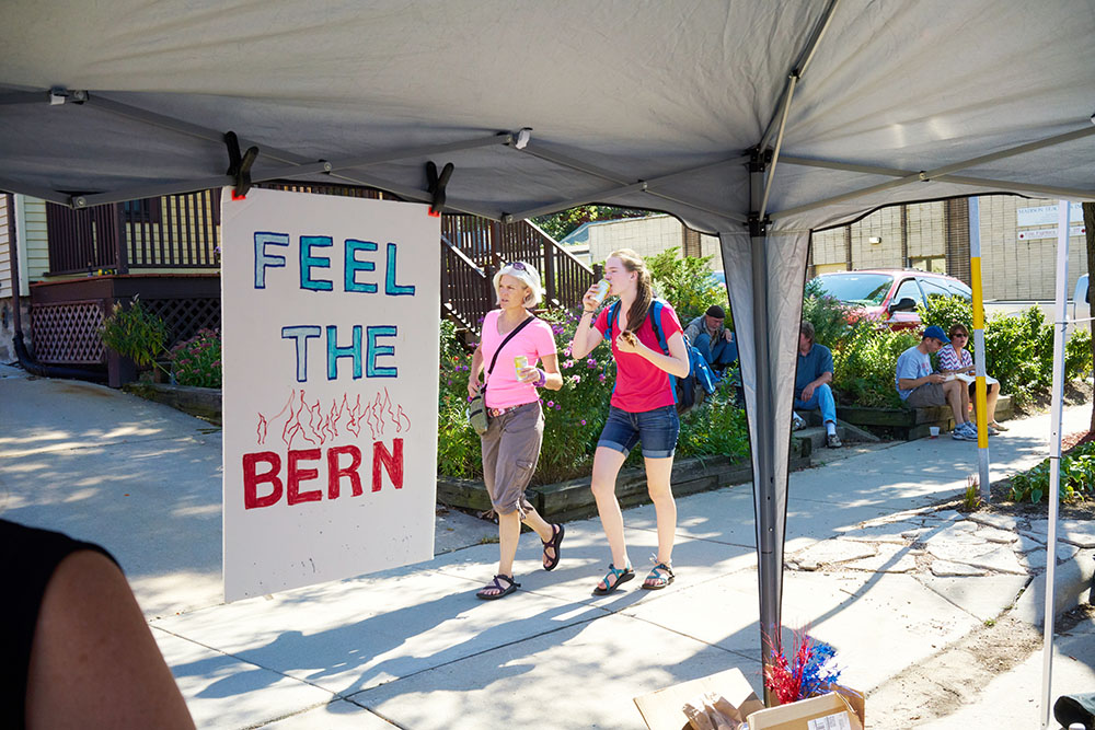 Feel The Bern Madison, WI Willy Street Festival 2015
