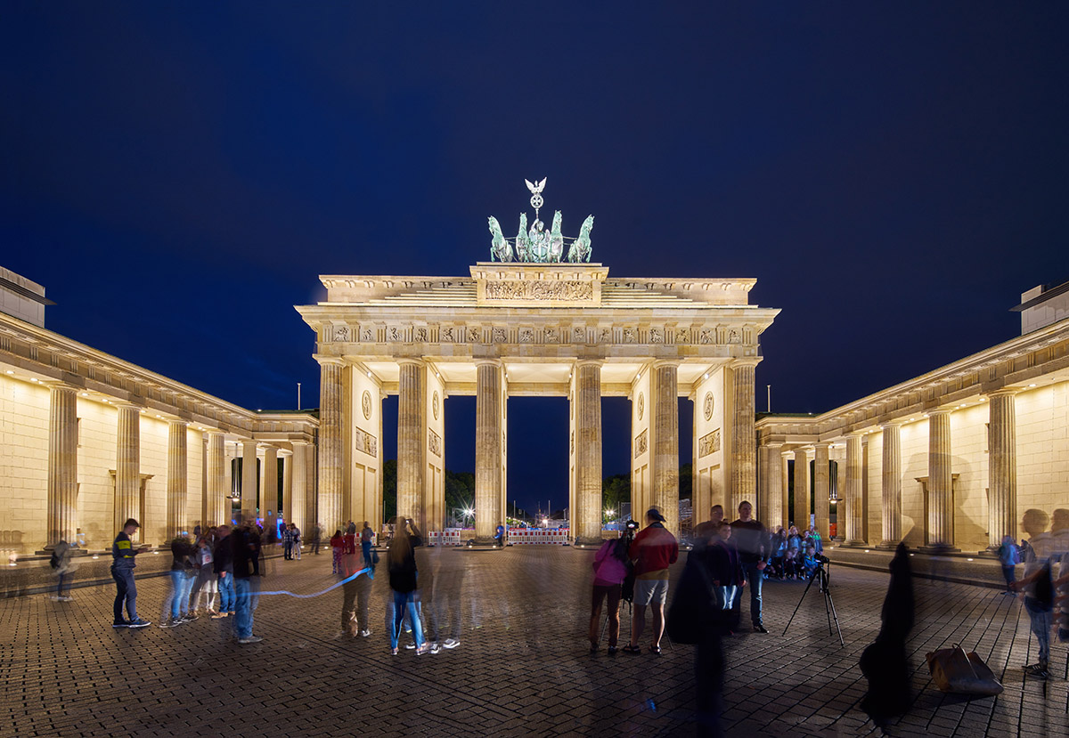 Berlin's Brandenburg Gate: Evening View