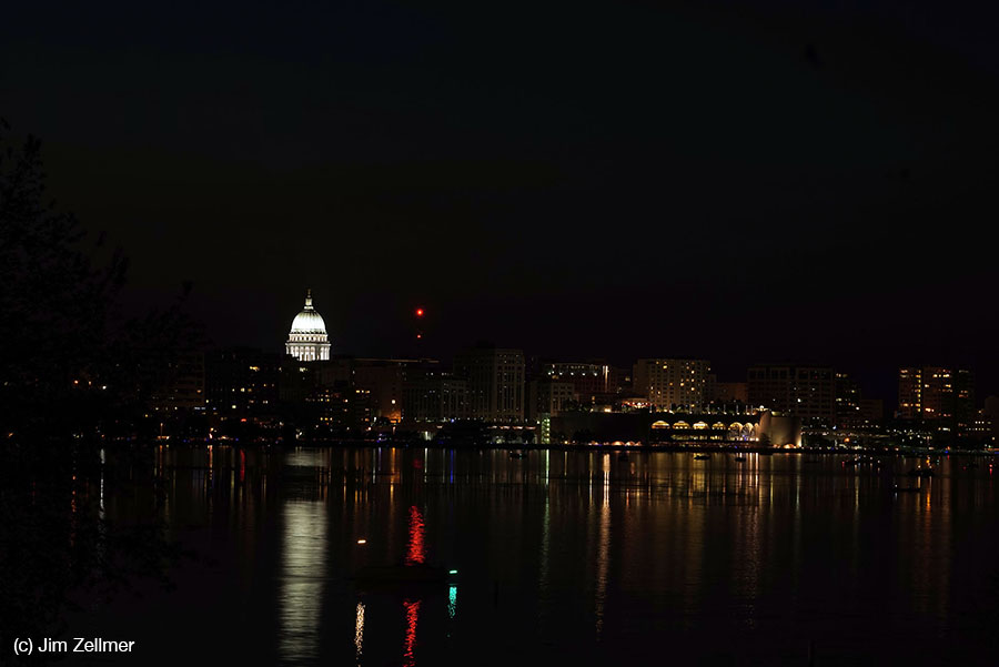 Lake Monona, Capitol, Monona Terrace Madison, WI by Jim Zellmer June 2015