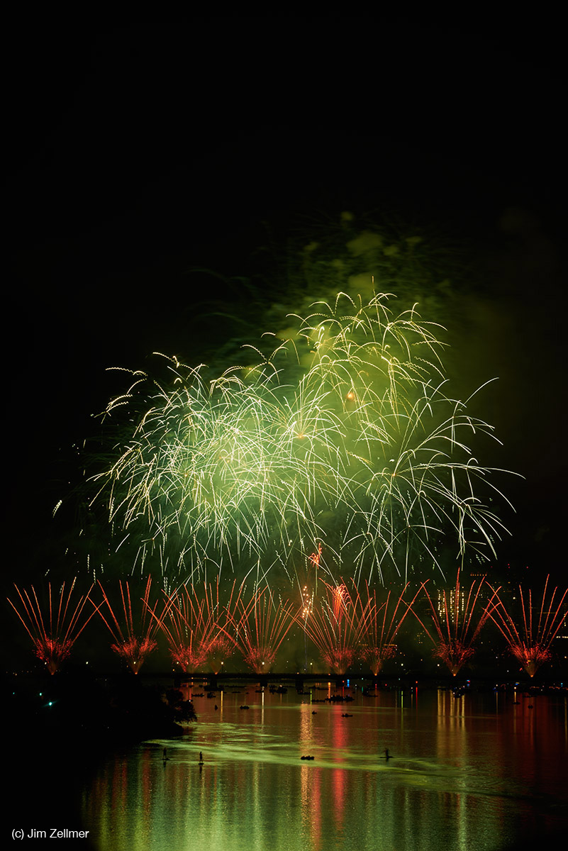 Boston, Massachusetts Fireworks July 4, 2015 by Jim Zellmer