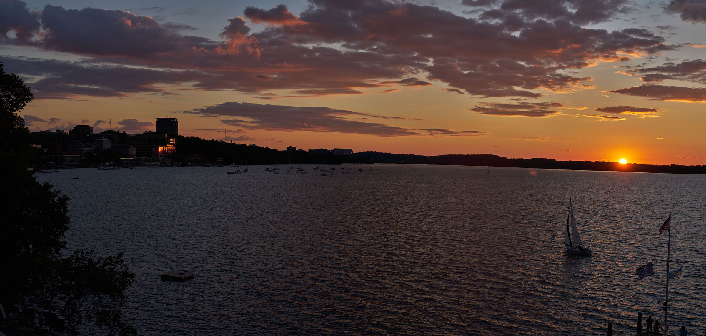 Panorama: Sunset at Madison's Edgewater